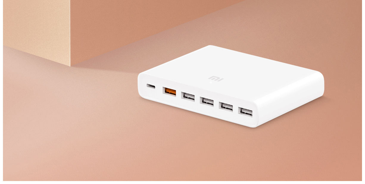 Xiaomi Mi CDQ06ZM 60W Multiple Hub 6 Port Fast Charger