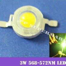 العام الأخضر 3 واط عالية الطاقة LED باعث 700mA 568 570NM 50 قطع