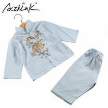 ActhInK Baby Boys Dragon Embroidery Cotton&Linen Han Chinese Clothing Brand Kids Retro Chinese Style Costume Clothing Set, MC117