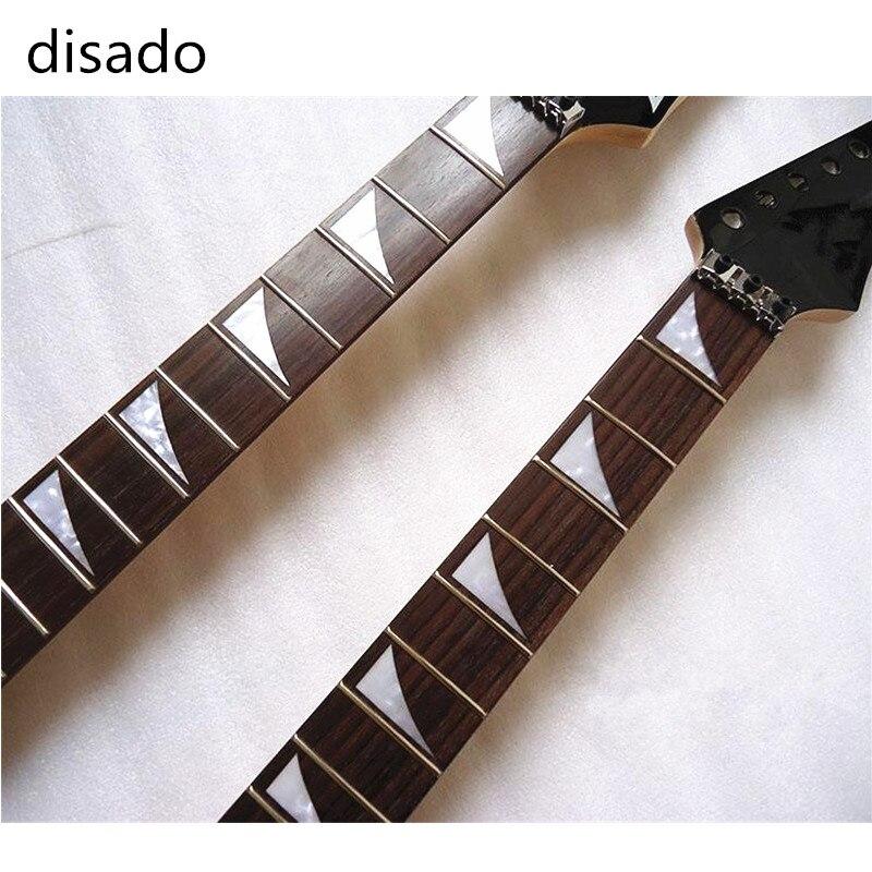 Disado 22 Frettes Guitare Électrique manche érable guitare cordes de verrouillage instruments de musique Guitare accessoires Pièces