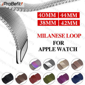 Bracelet Stainless-Steel-Band Watch-Series Milanese-Loop Apple 44mm for 1/2/3-42mm 38mm