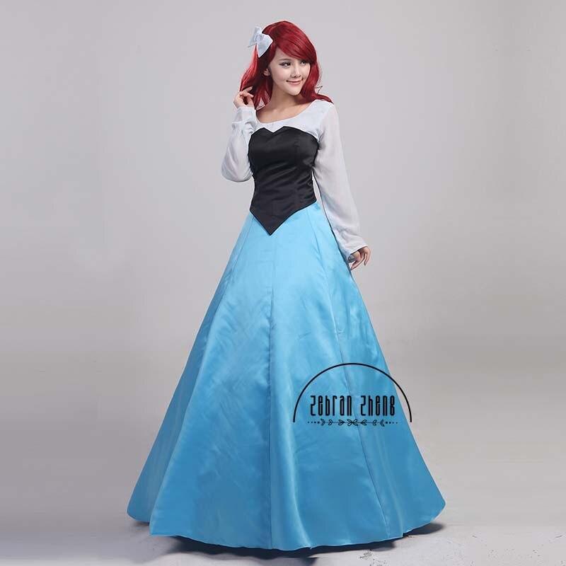 The Little Mermaid Ariel Blue Dress Princess Cosplay Kostuum Voor - Carnavalskostuums - Foto 3