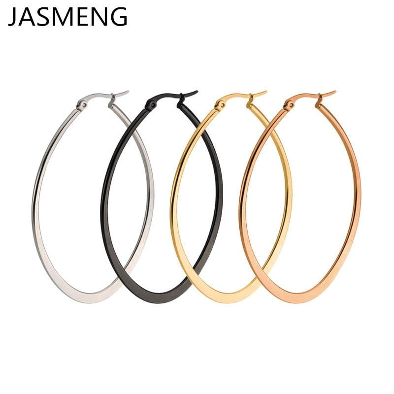 Hot Fashion Jewelry Oval Flattened Large Earringss