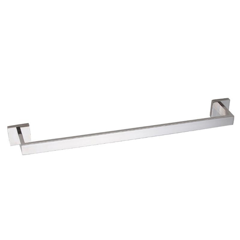 Chrome stainless steel material single-lever square towel racks simple 60cm won't rust stainless steel square towel ring chrome finishing flg8902