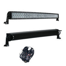 5D 42 Inch 400W Curved LED Light Bar with Wire Kit 12V 24V Combo Beam for Offroad Boat Car Truck ATV SUV 4WD 4x4 Work Lamp