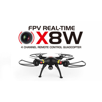 Syma X8W WiFi Real Time Video 2.4G 4ch 6 Axis Venture with 2MP Wide Angle FPV Camera RC Quadcopter RTF