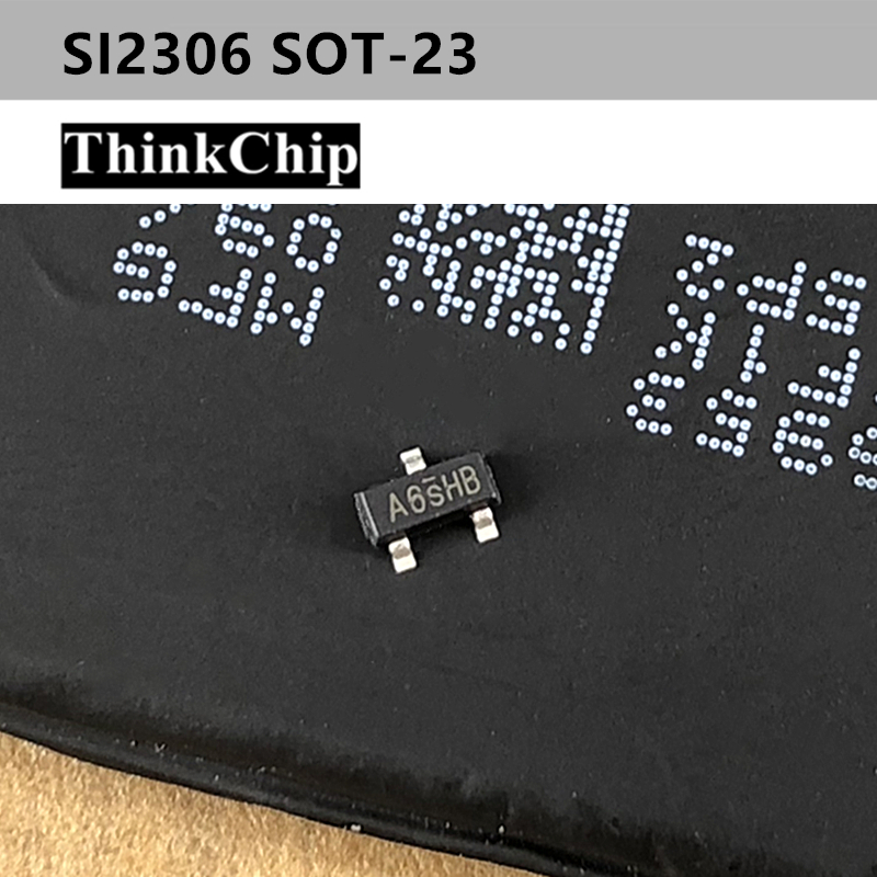Free Shipping 100pcs/lot SI2306 2306 A6SHB SOT-23 MOSFET Transistor, N Channel, 3.16 A, 30 V, 0.038 Ohm, 10V, 3V NEW Original