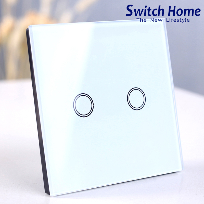 2 gang 1 way wall switch, eu/uk Standard Wall switch, white Glass panel wall Switch, AC 220V Smart Sensor light touch switch2 gang 1 way wall switch, eu/uk Standard Wall switch, white Glass panel wall Switch, AC 220V Smart Sensor light touch switch