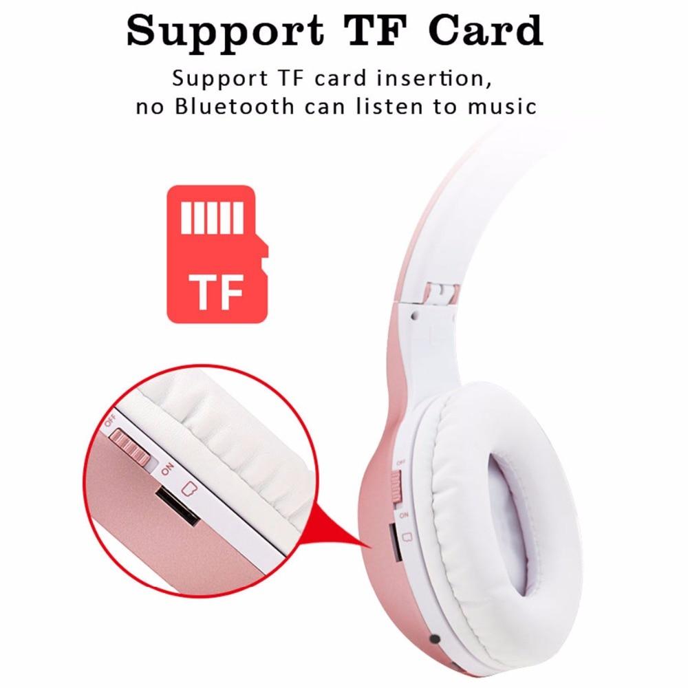 40 Ore Bluetooth Cuffie Wireless e Wired Headset Stereo Bass Sound Noise  Cancelling Cuffie Con Microfono Per Tutti I Telefoni in 40 Ore Bluetooth  Cuffie ... d833ede8d719