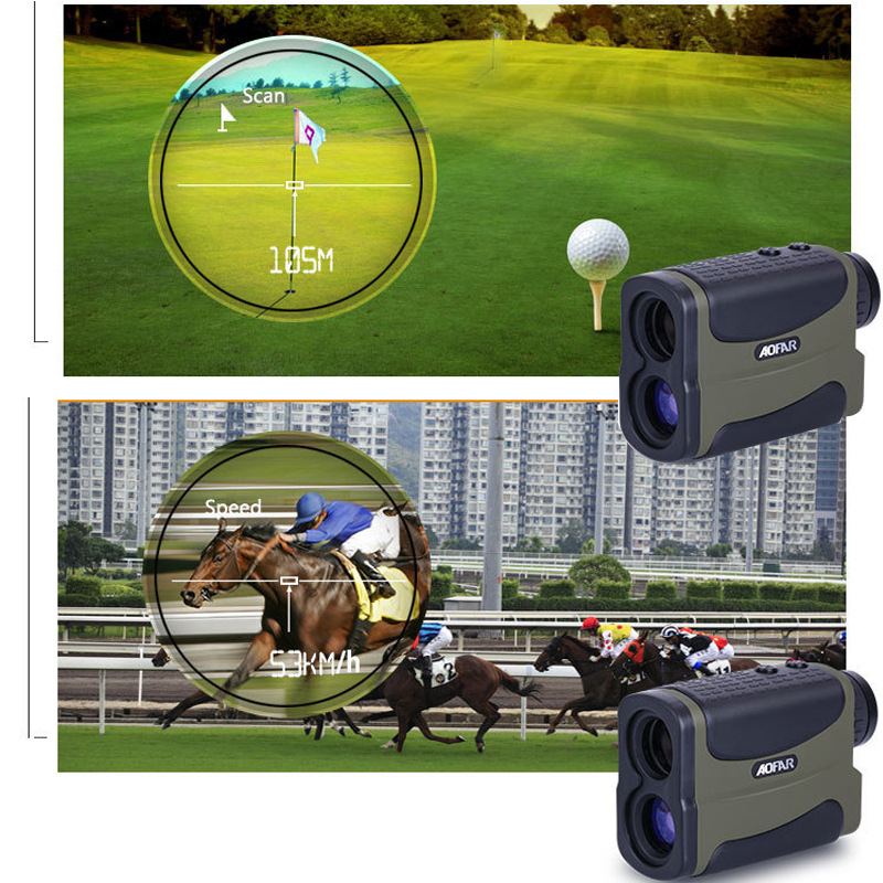 110x75x45 mm Golf Laser range Finder W/ SLOPE ANGLE SCAN 6x25 single tube high precision Distance / Velocity / High Laser Device