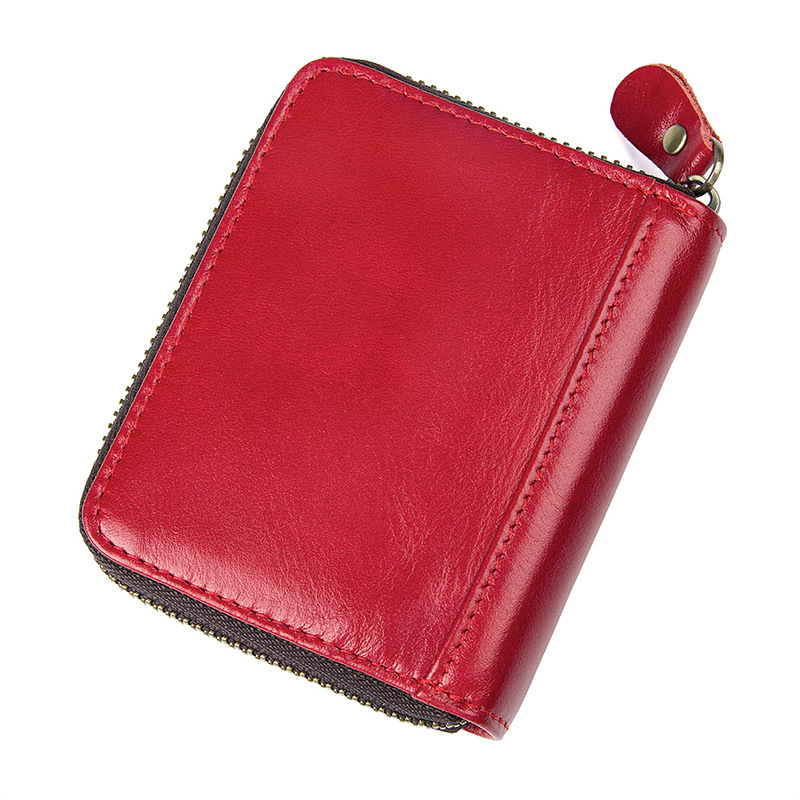 Wholesale Genuine Leather Rfid Card Holder Women Men Wallet Credit Card Holder Fasnhion Card Id Holders Organizer Purse in Card ID Holders from Luggage Bags