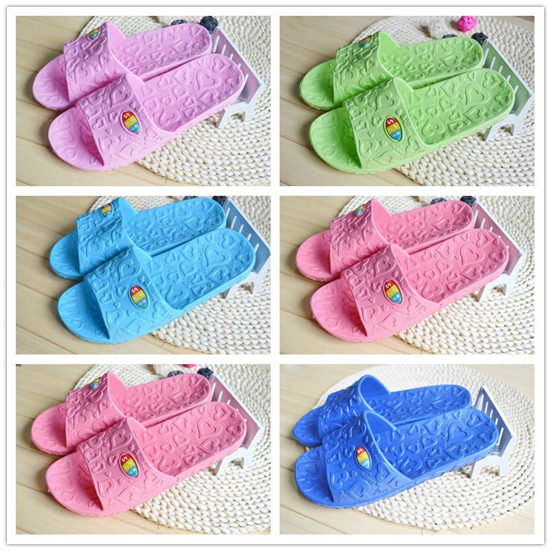 Love home slippers indoor men and women bathroom slip shoes summer couple