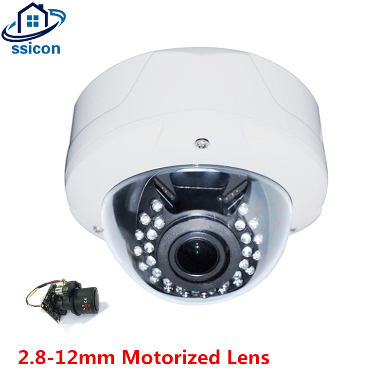 SSICON 2.8-12mm Motorized Lens 4X Auto-Zoom Dome AHD Camera 30Pcs IR Leds 1080P Auto Varifocal Security Camera With OSD Cable