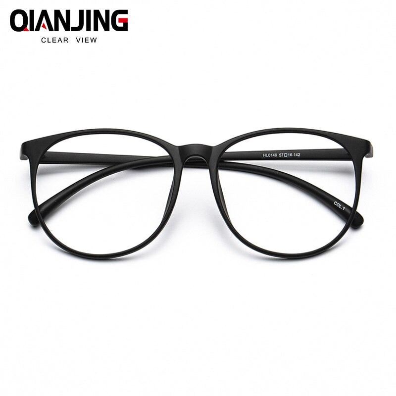 QIANJING Plastic Titanium TR90 men eyewear frames retro optical clear designer brand myopia Eyeglasses frame myopic lens women