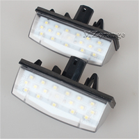 2X Car LED License Plate Lights 12V SMD3528 LED Number Plate Lamp Bulb Kit For Toyota