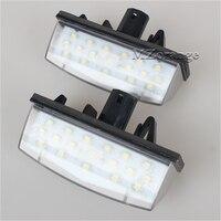 2X Car LED License Plate Lights 12V SMD3528 LED Number Plate Lamp Bulb Kit For Toyota