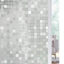 Funlife 90x200cm 3D Mosaic Privacy Window Film Decor Self-adhesive Static Cling Glass No Glue Anti-UV Sticker
