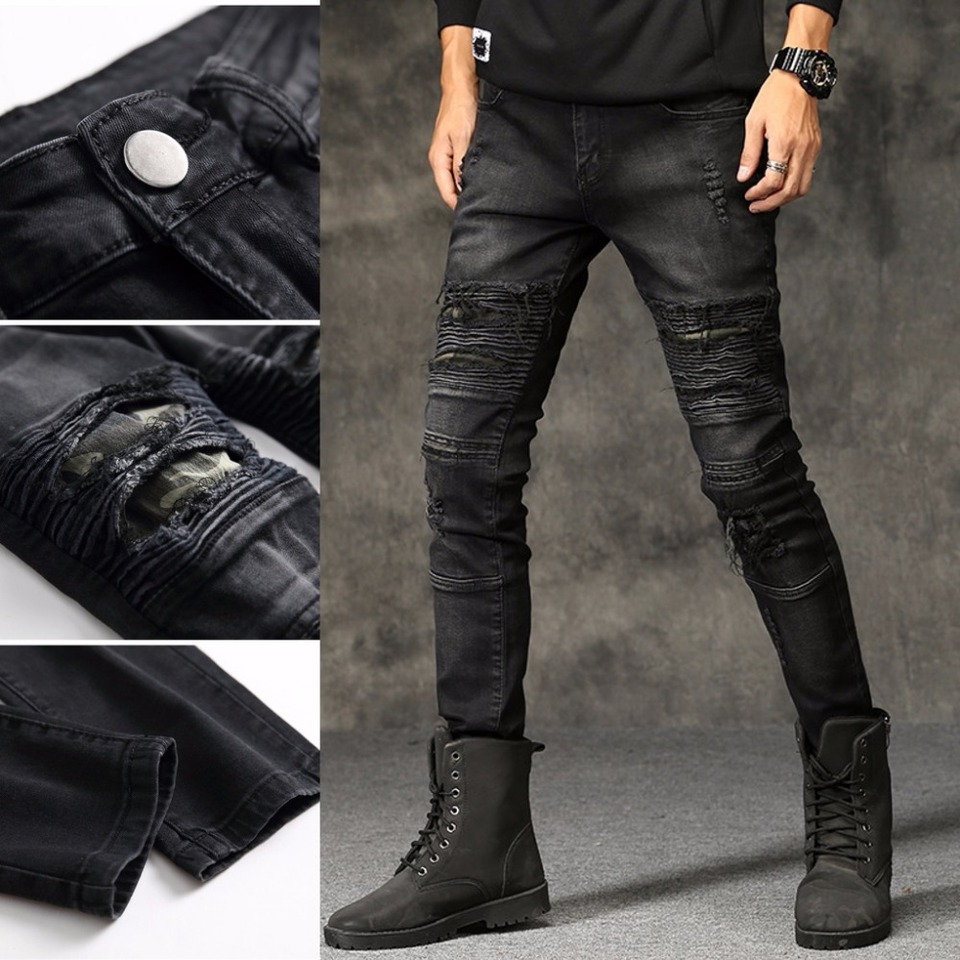 mens ripped jeans distressed
