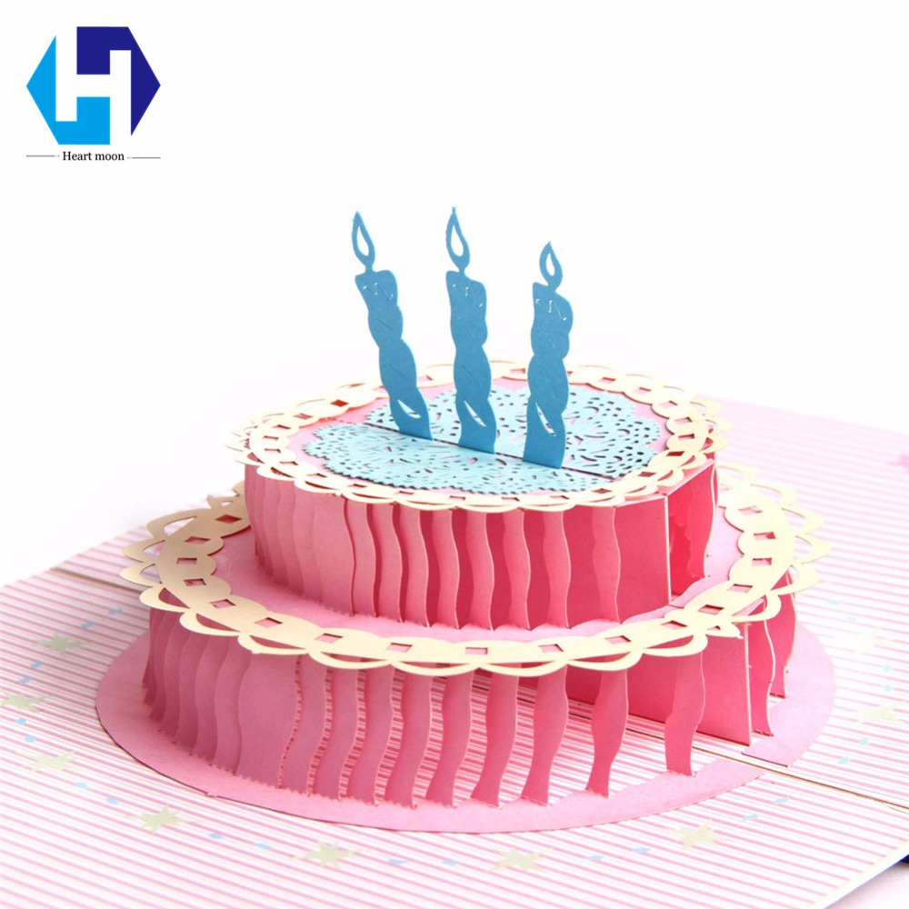 Music 3D pop up Happy Birthday candle cake greeting card laser cutting envelope postcard hollow carved handmade kirigami gifts music card spiral pop up musical notes 3d card music instruments pop up card bday pop up card