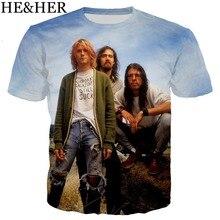 3fc31ca3 Hip Pop Rock band Nirvana 3D printed men t-shirt funny summer plain shirts  cool