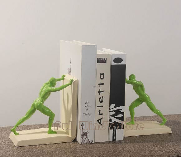 Cool Green Giant Office Bookends Modern Creative Bookends Home Decoration  Strong Man Book Stand End In Bookends From Office U0026 School Supplies On ...