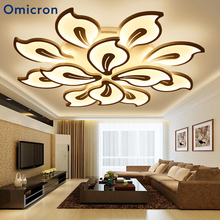 hot deal buy omicron led chandeliers originality flowers head chandeliers white black coffee home lamp for living room bedroom home lighting