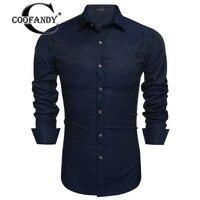 COOFANDY New Arrivals Men Fashion Slim Fit Turn Down Collar Long Sleeve Stripe Business Dress Shirt