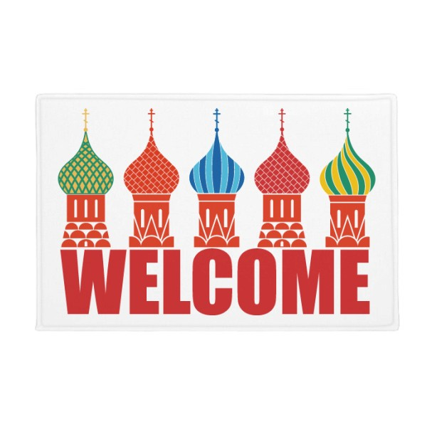 Welcome To Russia Cathedral Buiding Anti-slip Floor Mat Carpet Bathroom Living Room Kitchen Door 16x30Gift