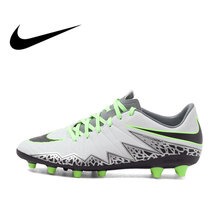 e367e22d4148f Original Authentic NIKE HYPERVENOM PHELON II Men's Light Comfortable  Football Shoes Soccer Breathable Sneakers Outdoor Lawn