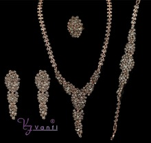 Top Saling Antique Wedding Dubai Bridal African Jewelry Set Crystal Long Necklace&Earring Jewelry Set Gfits For Women