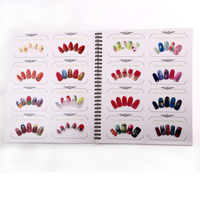 1pc Professional Nail Art Template Nail Art Display Book Chart For