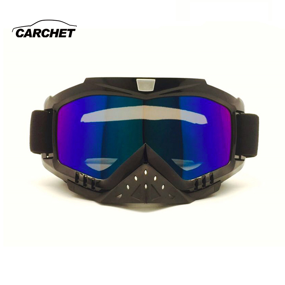 CARCHET Motocross Glasses Goggles dust-proof windproof anti-UV motorcycle goggles nose protection riding skiing glasses TPU