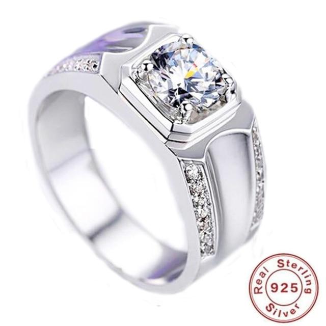 63bd4517d68e0a 2019 YKNRBPH S925 Sterling Silver Open Diamond Ring Men's Luxury Weddings Ring  Jewelry Gift