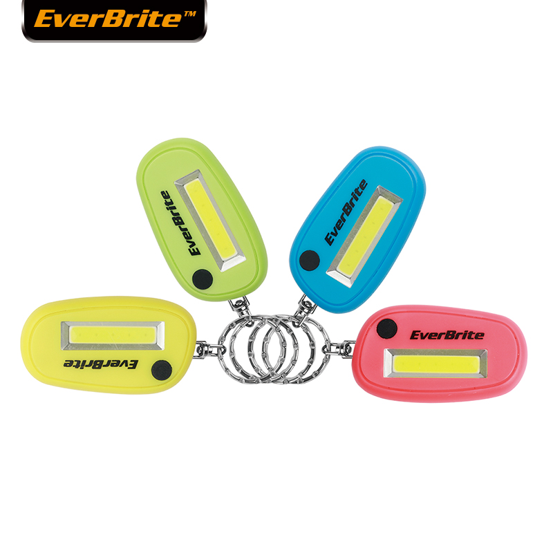 EverBrite 4-pack LED Keychain Flashlight Set 3-mode Mini Ultra Bright Key Ring Light Torch Batteries Included Assorted Colors