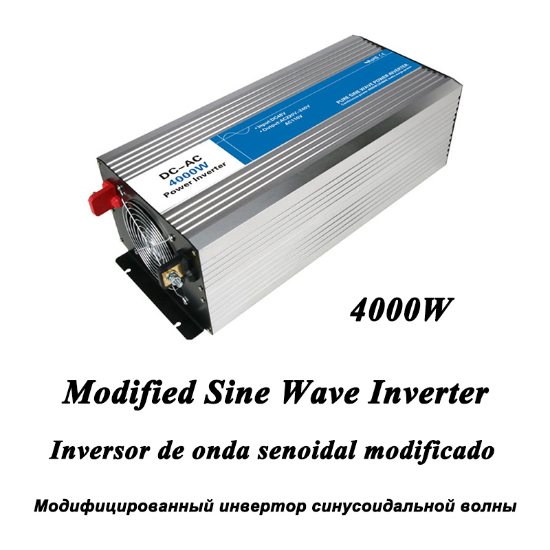 DC-AC 4000W Modified Sine Wave Inverter,LED Digital Display,with USB,DC to AC Frequency Converter Voltage Electric Power Supply dc ac 1000w pure sine wave inverter 12v to 220v converters voltage off grid electric power supply led digital display usb china