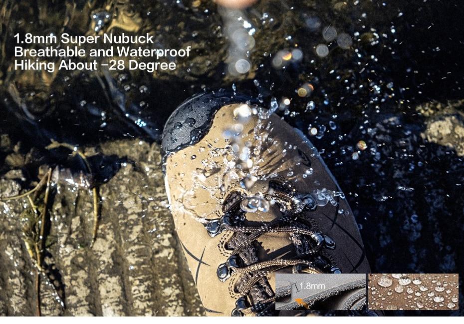 Clorts Men Hiking Shoes Nubuck Climbing Shoes Waterproof 6