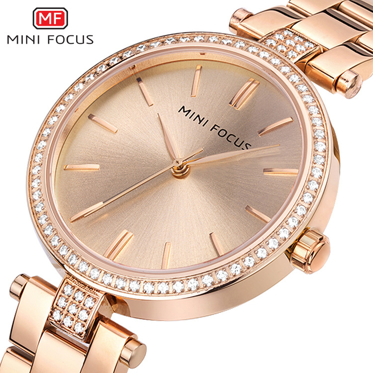 women luxury fashion wristwatches quartz stainless steel gold silver diamond woman watches waterproof MINI FOCUS brand clocks ysdx 398 fashion stainless steel self stirring mug black silver 2 x aaa