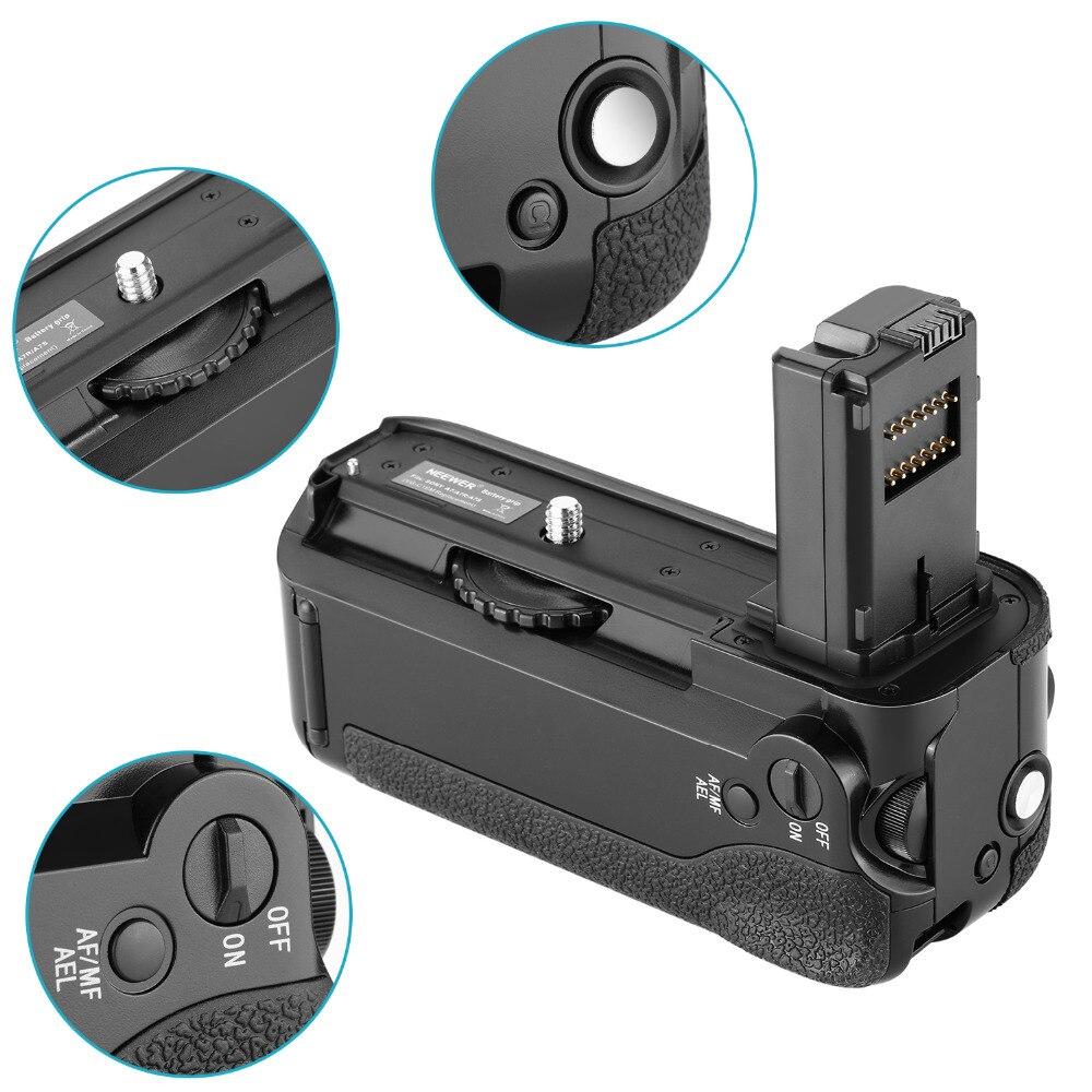 Neewer poignée de batterie verticale (remplacement pour VG-C1EM) pour Sony Alpha A7 A7R A7S DSLR appareils photo compatibles avec la batterie de NP-FW50 - 5