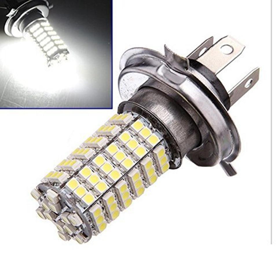 1pcs 12V H4 3528 120SMD Car Led Fog Lamp Led Car Lamp 120smd Fog Light Highlight Motorcycle LED Fog Lamps For Bmw Audi Ford VW highlight h3 12w 600lm 4 smd 7060 led white light car headlamp foglight dc 12v
