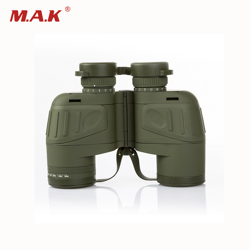 10x50 Navy Binoculars Telescope Night Vision Waterproof Fogproof HD with Rangefinder and Compass for Outdoor Hunting bijia professional optic night vision telescope 8 24x50 zoom binoculars hd waterproof for outdoor camping with tripod interface