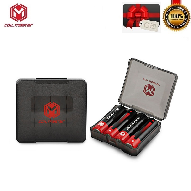 Original Coil Master Battery Storage Box Case Coilmaster B2 B4 Battery Carrier For Double Quadruple 18650 Battery