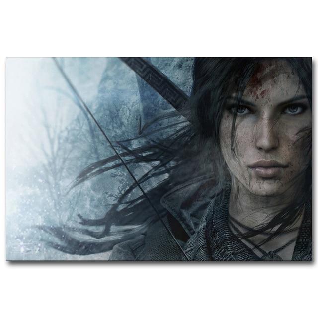 Шелковый Плакат гобелен Tomb Raider Лара Крофт в ассортименте