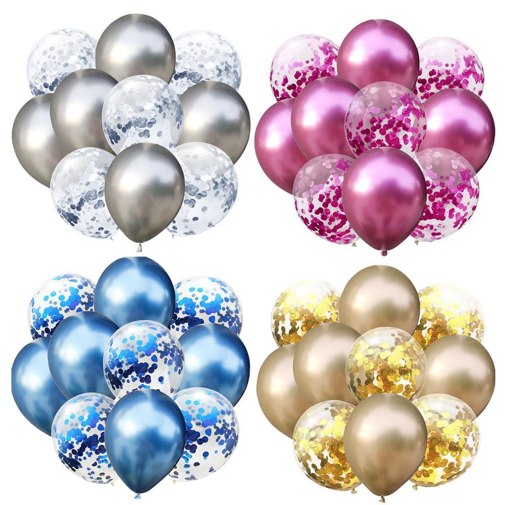 LAPHIL 10 pcs Multi Confetti Ballonnen Happy Birthday Party Decoraties Kids Blauw Roze Jongen Meisje Baby Shower Benodigdheden Geslacht Onthullen 4