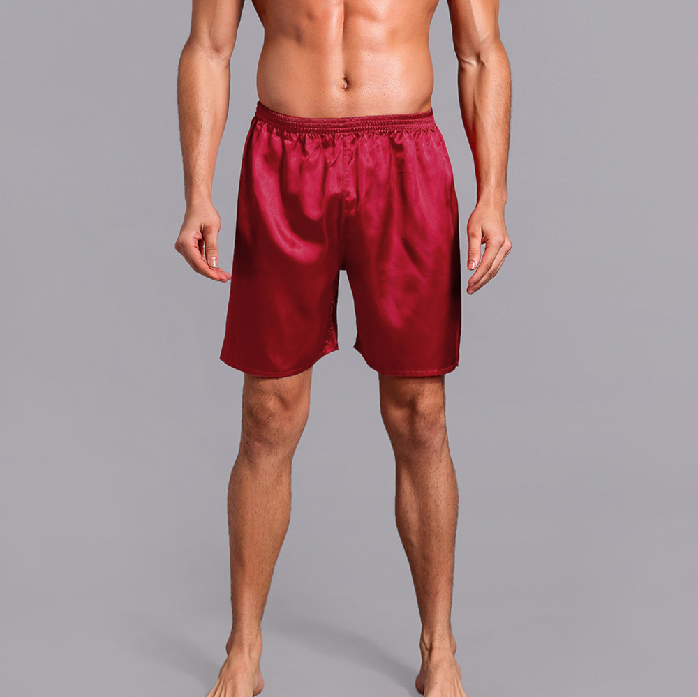 Diplomatisch 2019 Neue Unterwäsche Männer Silk Satin Pyjama Nachtwäsche Homewear Roben Shorts Unterwäsche Männer Pijama Lounge Hosen Dropshipping # Vb30
