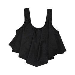 Sexy feminino trajes de banho topo babados cintura alta biquíni conjunto preto brasileiro parte inferior bikini topos para as mulheres topo de colheita biquinis