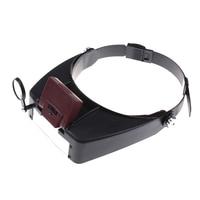 2 ledライトヘッドセット10 ×拡大鏡ヘッド拡大鏡ガラスレンズルーペでledライト用ハンドクラフト/修復