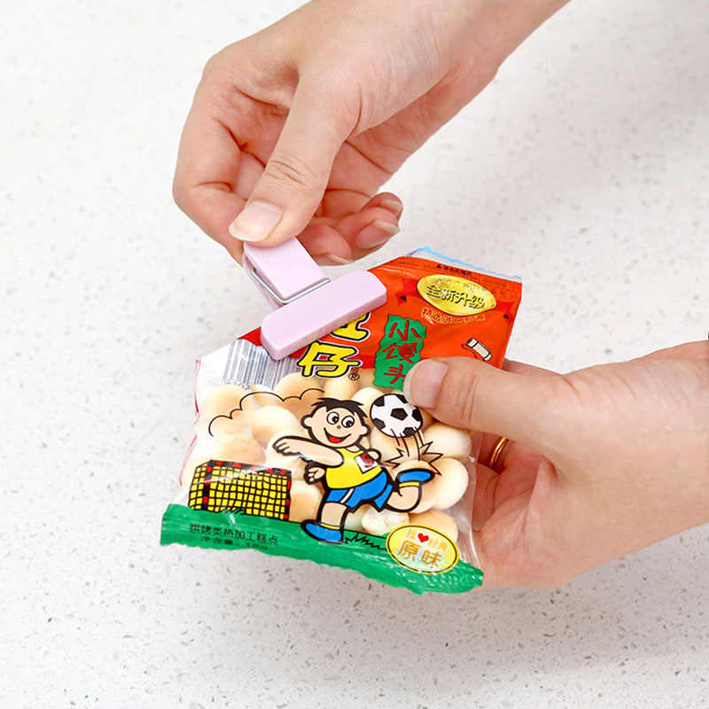 12Pcs/set Plastic Bag Sealer Snack Fresh Food Storage Bag Clips Kitchen Tool accessories Mini Vacuum Sealing Clamp Food Clip