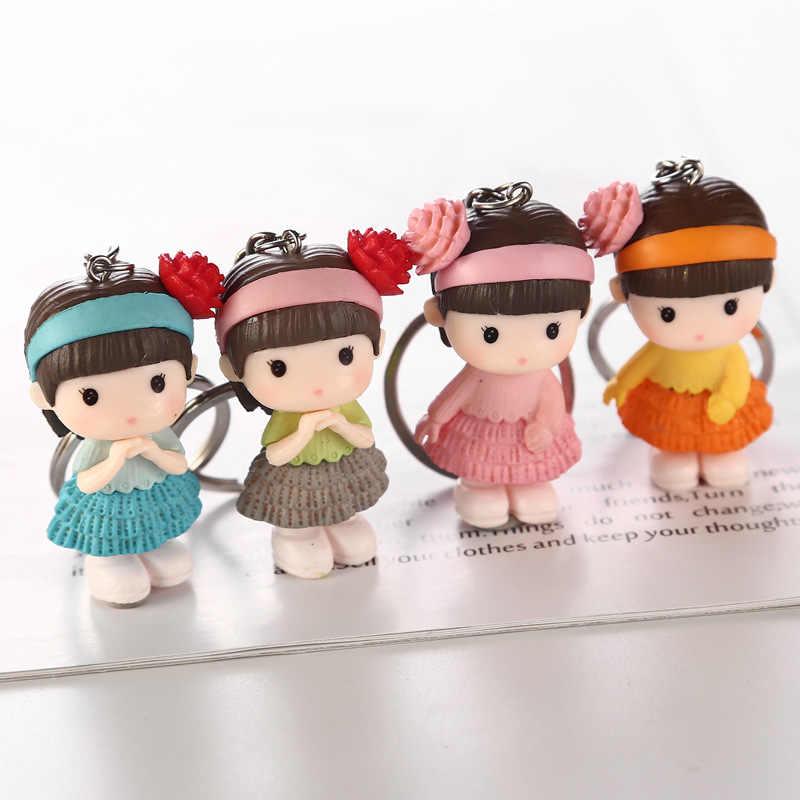 1 PCS Coréia Criativo Figura Pvc Boneca Chaveiro Car & Saco de Acessórios Para Os Amantes do Presente de Aniversário Do Partido