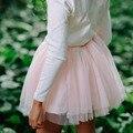 Весна Осень Сетка девочка тюль Юбки балерина Танцевальная одежда Принцесса Девушки Юбки 1 ~ 8Y Детская Одежда Туту Pettiskirt
