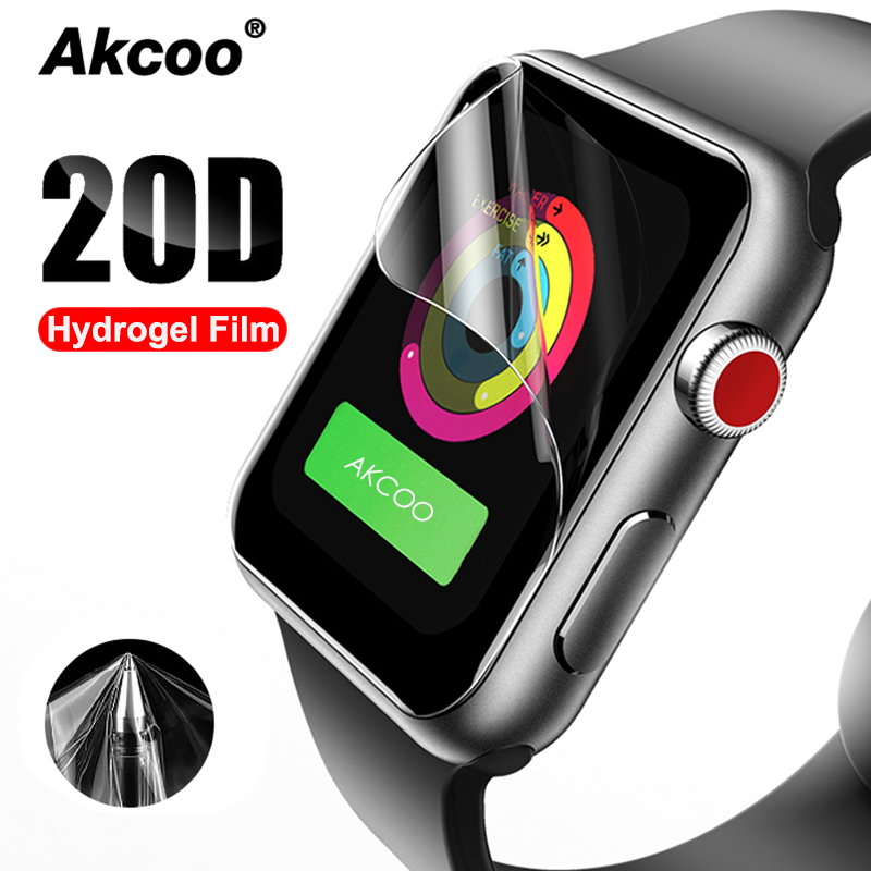 Full-Protective-Film Easy-Paste Watch-Series Apple-Watch Hydrogel 4-Screen-Protector